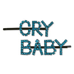 Ashley Williams Cry Baby Hairpins (Blue Crystal)