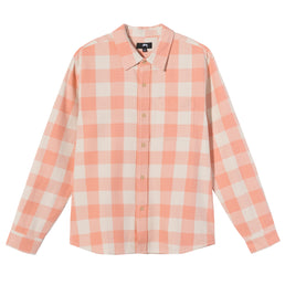 Stüssy Venice Plaid Ls Shirt (Peach)