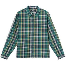 Stüssy Classic Zip Up Plaid Ls Shirt (Green)