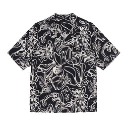 Stüssy Wavy Hawaiian Shirt (Black)
