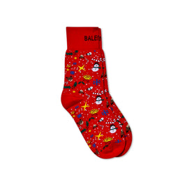 Balenciaga X-Mas Socks (Red)