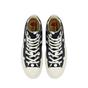 Play Converse Polka Dot Chuck Taylor All Star '70 High (Black)