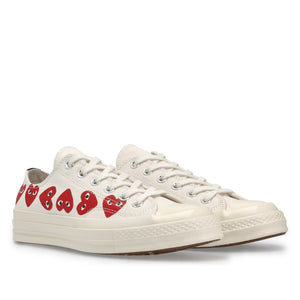 Play Converse Multi Heart Chuck Taylor All Star '70 Low Top (White)
