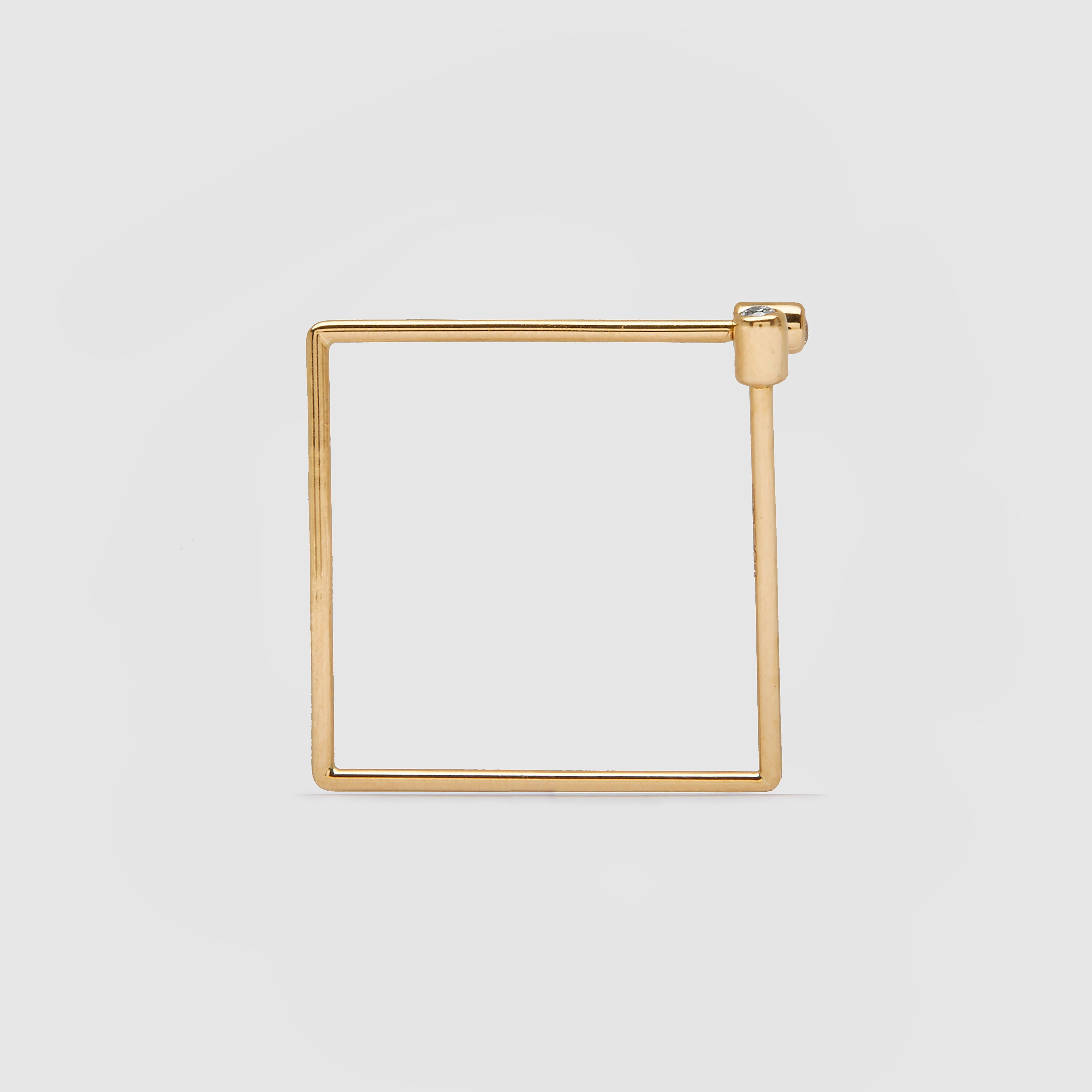 Shihara Diamond Square Twist Earring 6 (Yellow Gold)