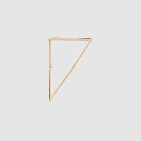 Shihara Form Earring 03 20MM (Yellow Gold)