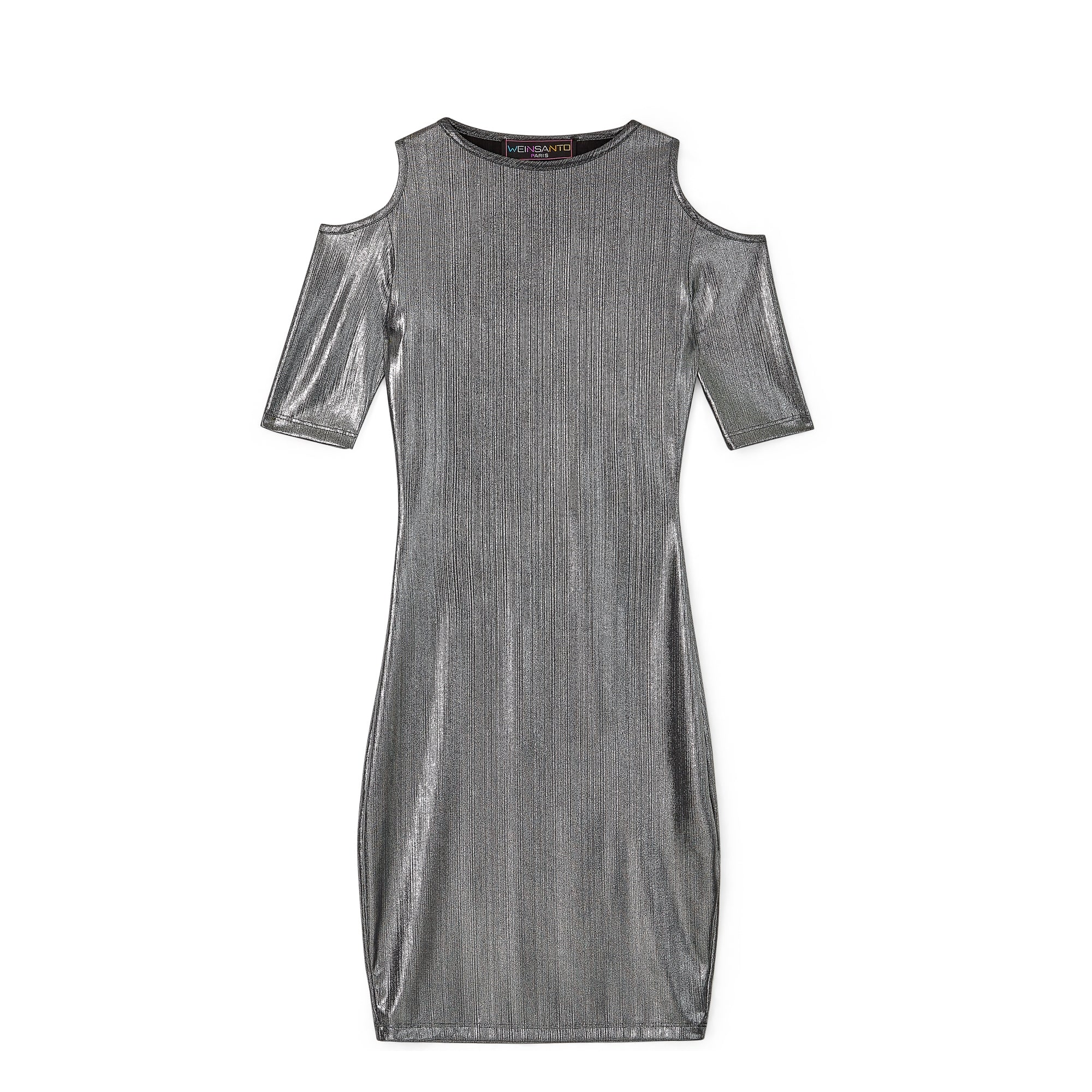 Weinsanto Shoulder Dress (Silver)