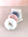 Cloud Scrunchie is designed with a premium fur material,suitable for all-day wear