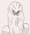 Butterfly Hair Claw i suitable for all hair types: thick and thin.