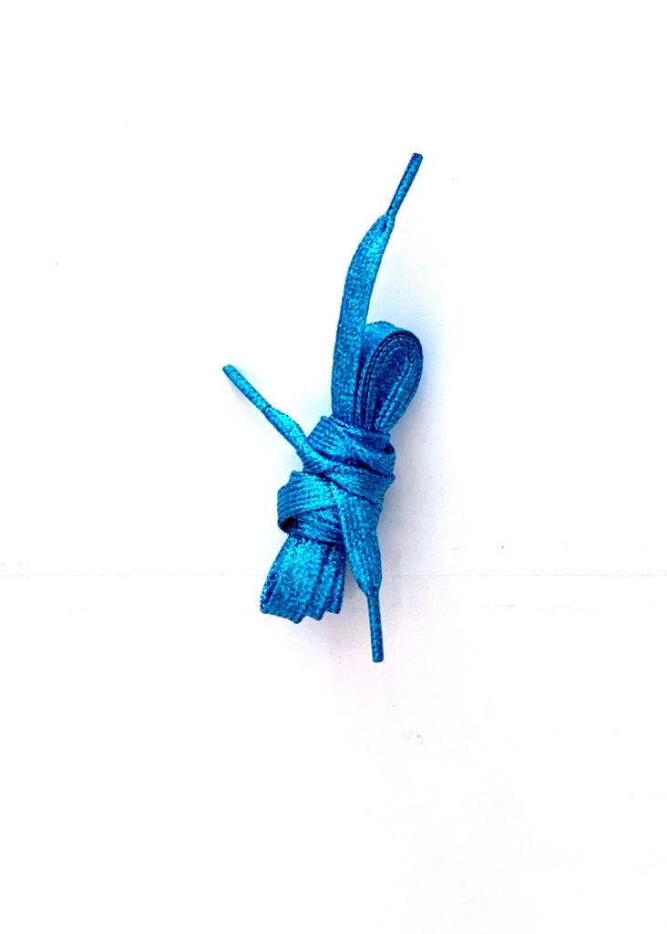 Metallic Blue Shoelaces
