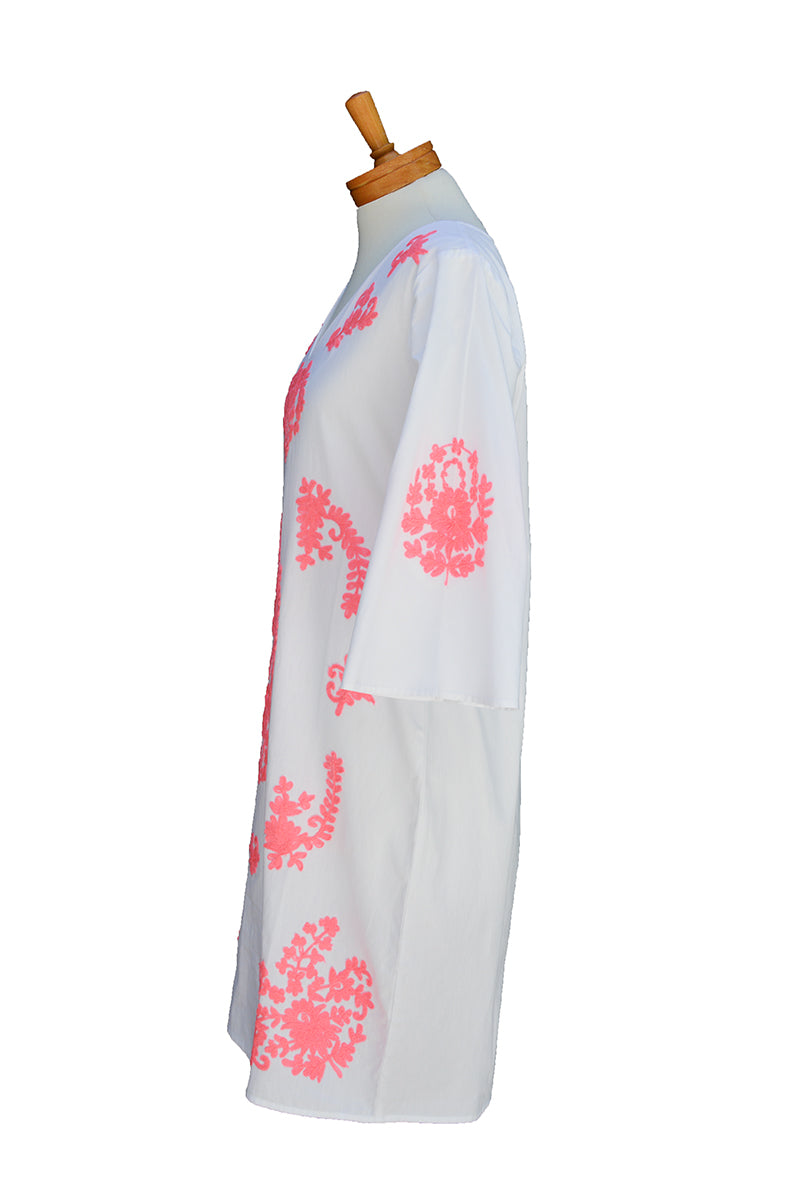 Neon Embroidered  Caftan