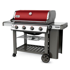 Weber Genesis II SE-410 Special Edition Freestanding Propane Gas Grill - Crimson
