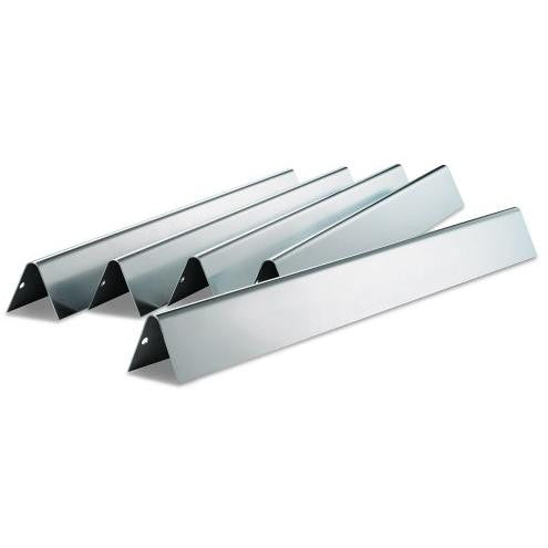 Weber 7540 Stainless Steel Flame Tamer Flavorizer Bars For Genesis E & S Series Gas Grills - 5-Pieces