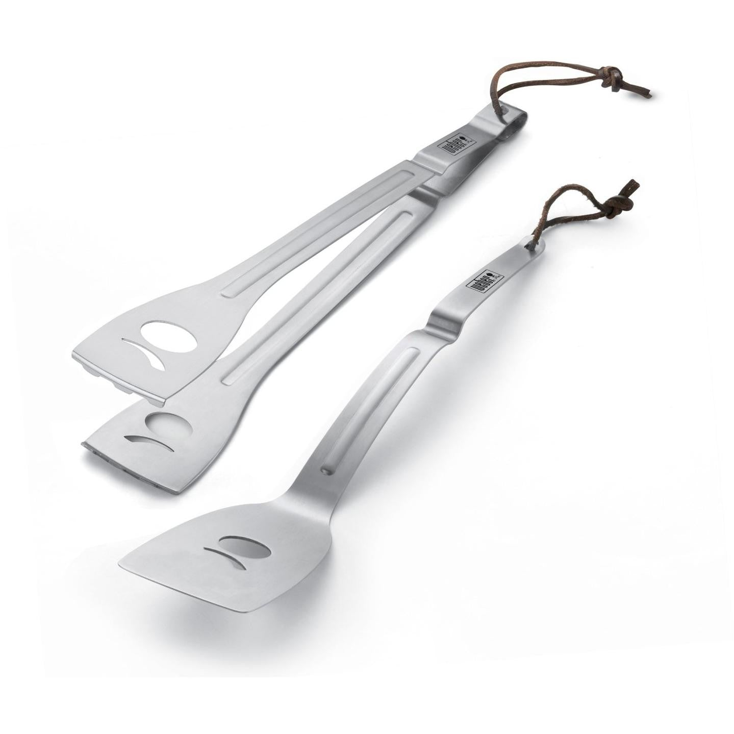 Weber 6515 Q Stainless Steel BBQ Tool Set - 2-Pieces