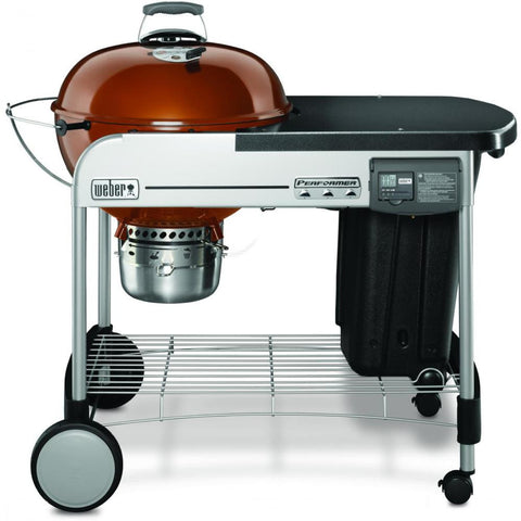 Weber Performer Deluxe 22-Inch Freestanding Charcoal Grill With Touch-N-Go Ignition - Copper