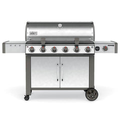 Weber Genesis II LX S-640 Freestanding Natural Gas Grill - Stainless Steel