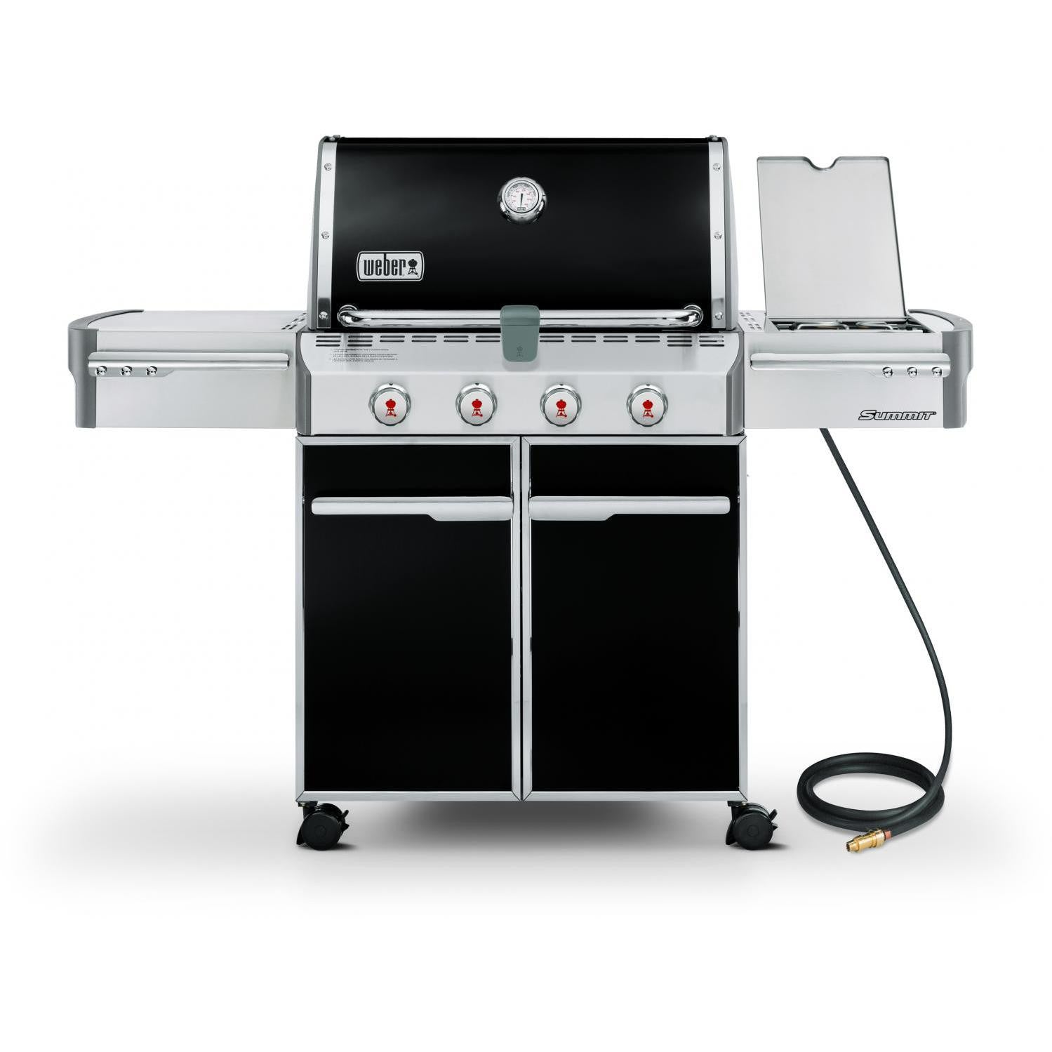Weber Summit E-420 Freestanding Natural Gas Grill With Side Burner - Black