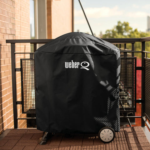 Weber Q Propane Portable Grill With Rolling Cart Closed