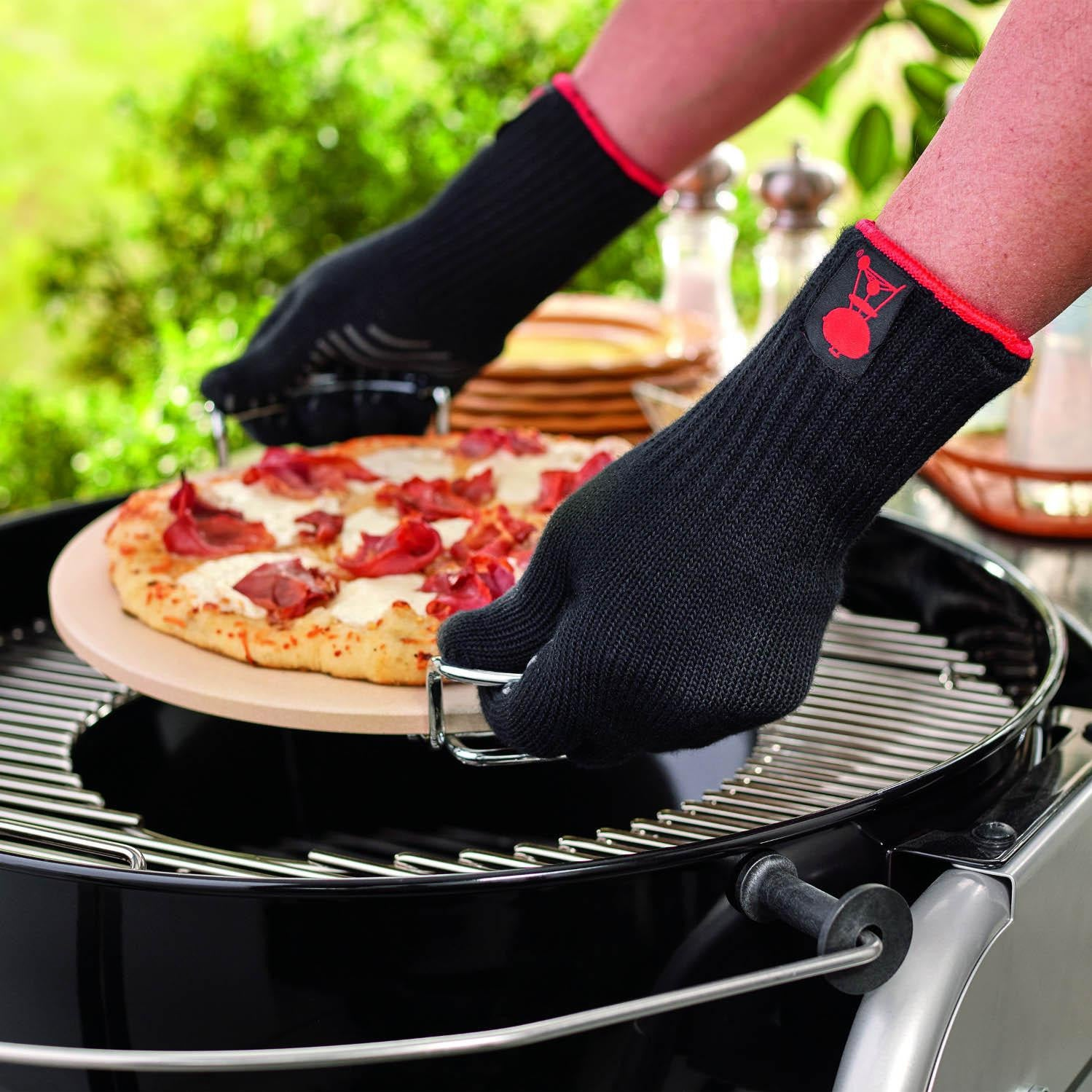 Weber 6535 Premium Large / Extra-Large Grill Gloves With Silicone Grip Pattern Palm - Set Of 2