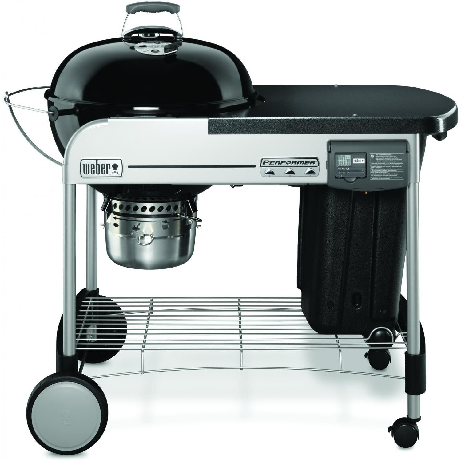 Weber Performer Deluxe 22-Inch Freestanding Charcoal Grill With Touch-N-Go Ignition - Black