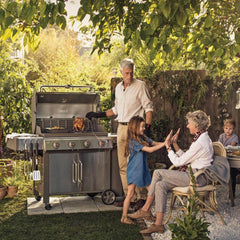 Weber Genesis II LX S-440 Freestanding Natural Gas Grill - Stainless Steel