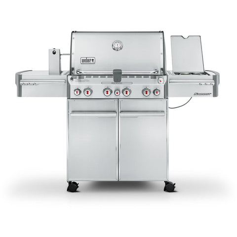 Weber Summit S-470 Freestanding Gas Grill With Rotisserie, Sear Burner & Side Burner