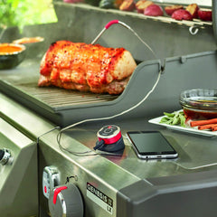 Weber 7202 iGrill Mini Smart LED Wireless Bluetooth Grill Thermometer With Single Probe
