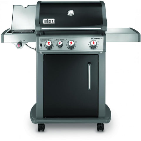 Weber Spirit E-330 Freestanding Propane Gas Grill With Sear Burner & Side Burner - Black