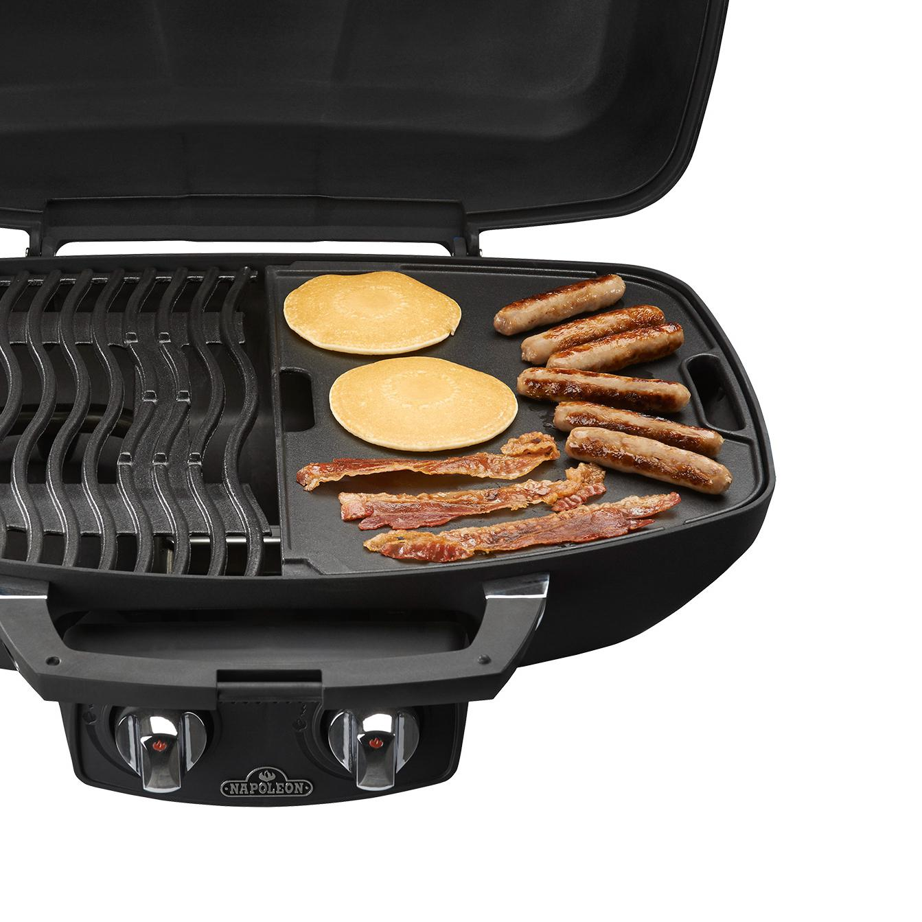 Napoleon TravelQ Cast Iron Reversible Griddle For 285 Portable Gas Grills