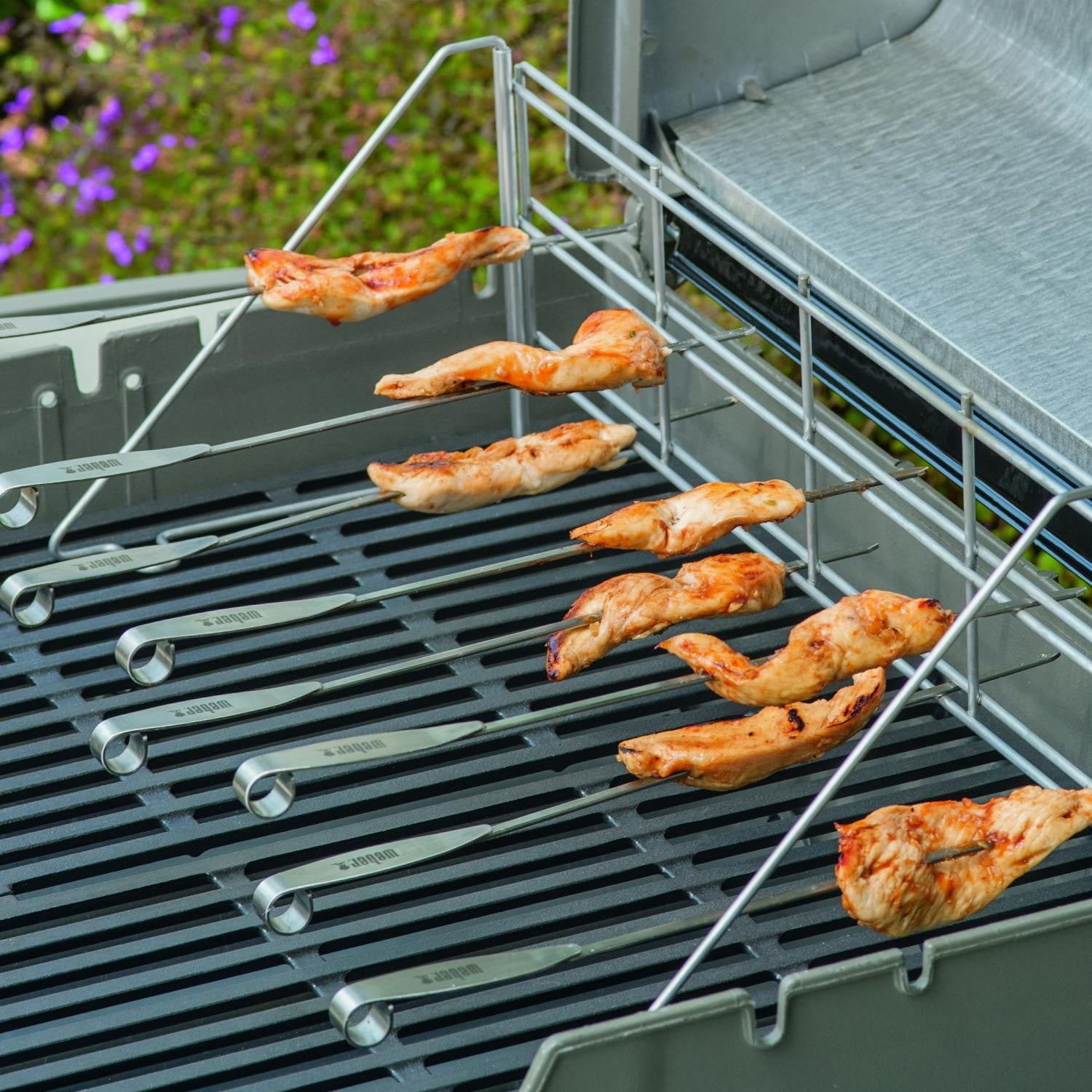 Weber 7615 Grill Rack And Skewer Set - 11-Pieces