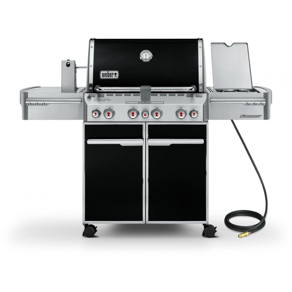 Weber Summit E-470 Freestanding Natural Gas Grill With Rotisserie, Sear Burner & Side Burner - Black