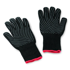 Weber 6536 Premium Small / Medium Grill Gloves With Silicone Grip Pattern Palm - Set Of 2