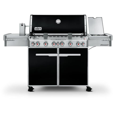Weber Summit E-670 Freestanding Gas Grill With Rotisserie, Sear Burner & Side Burner - Black