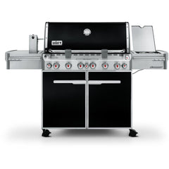 Weber Summit E-670 Freestanding Natural Gas Grill With Rotisserie, Sear Burner & Side Burner - Black