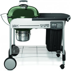 Weber Performer Deluxe 22-Inch Freestanding Charcoal Grill With Touch-N-Go Ignition - Green