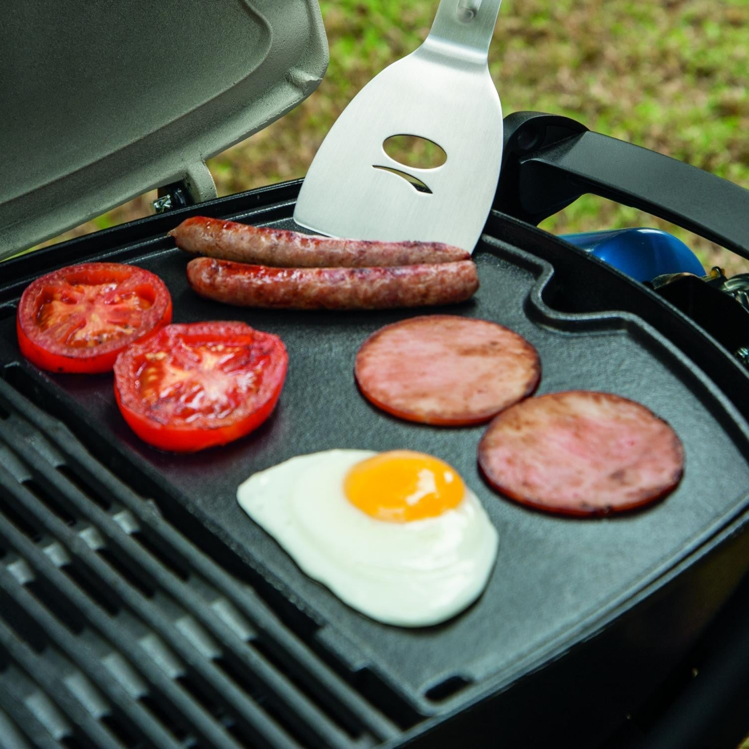 Weber 6558 Porcelain-Enameled Cast Iron BBQ Griddle For Q 100/1000 Portable Gas Grills