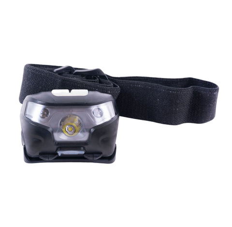 super bright head light with head band 4 light modes LED Waterproof uses 3x AAA batteries