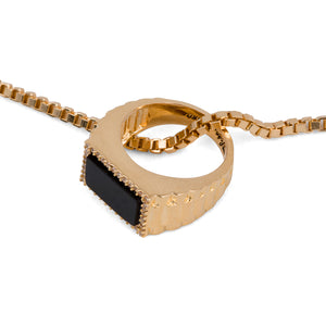 PINKY RING NECKLACE (GOLD)