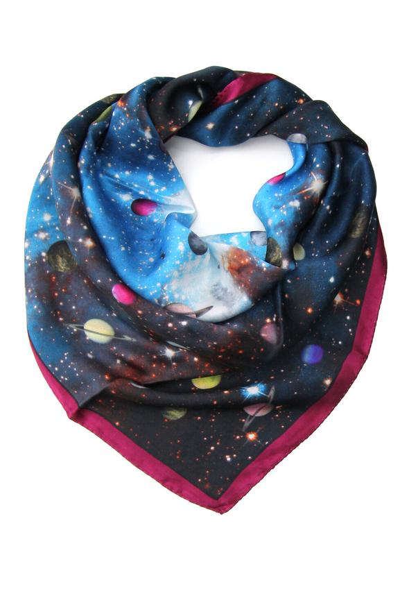 Elizabeth Gillett Galaxy Clouds Scarf