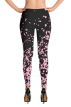 Sakura Black Leggings