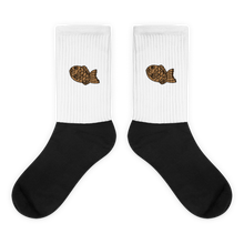Load image into Gallery viewer, Taiyaki - Embroidered Black Foot Sublimated Socks