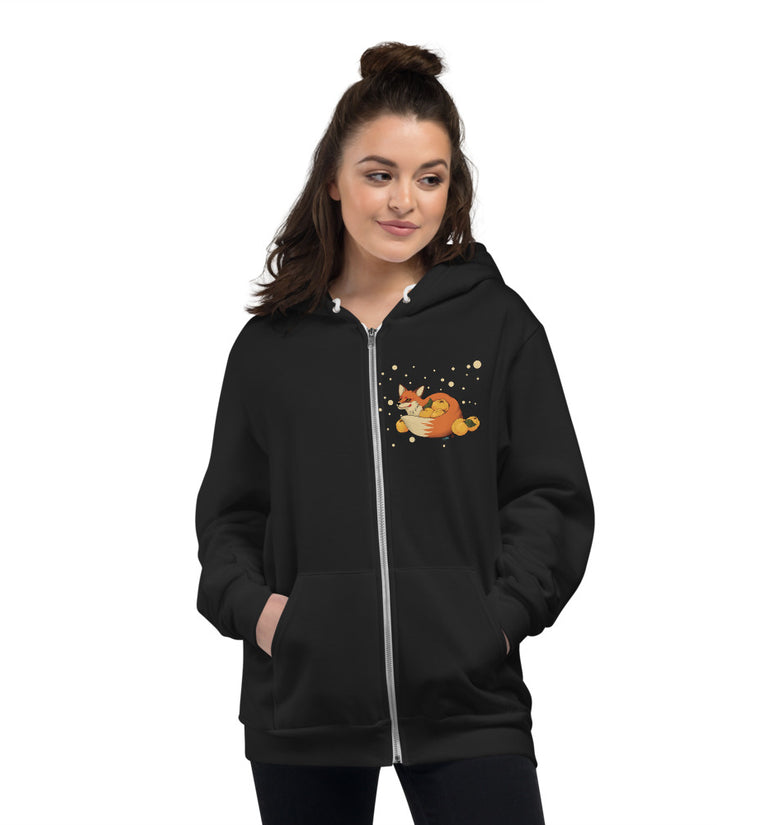 Foxy Hoodie Sweater - Front Print