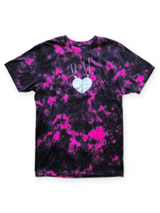 Gavin Magnus Merch - Hearts on a Pendant Tee Pink Dye