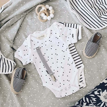 Afbeelding in Gallery-weergave laden, Baby Bodysuit - Short Sleeves - Breton Stripes