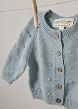 Load image into Gallery viewer, Dotted Cardigan - Cotton - Misty Blue