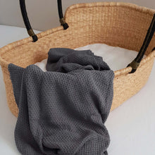 Load image into Gallery viewer, Knitted Blanket - Organic Cotton - Grey