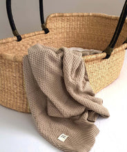 Load image into Gallery viewer, Knitted Blanket - Organic Cotton - Beige