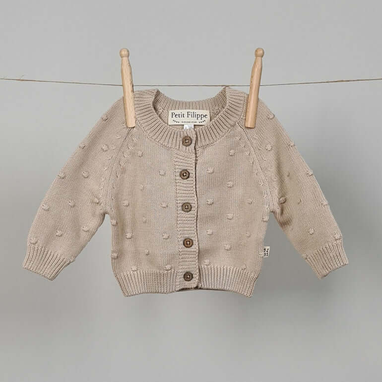 Dotted Cardigan - Cotton - Oatmeal