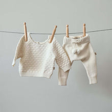 Load image into Gallery viewer, Knitted Pants - Cotton - Ivory