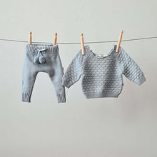 Afbeelding in Gallery-weergave laden, Knitted Pants - Cotton - Misty Blue