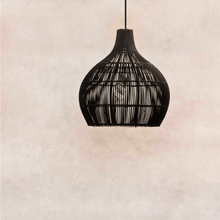 Load image into Gallery viewer, Lampshade - Rattan - Totally Black